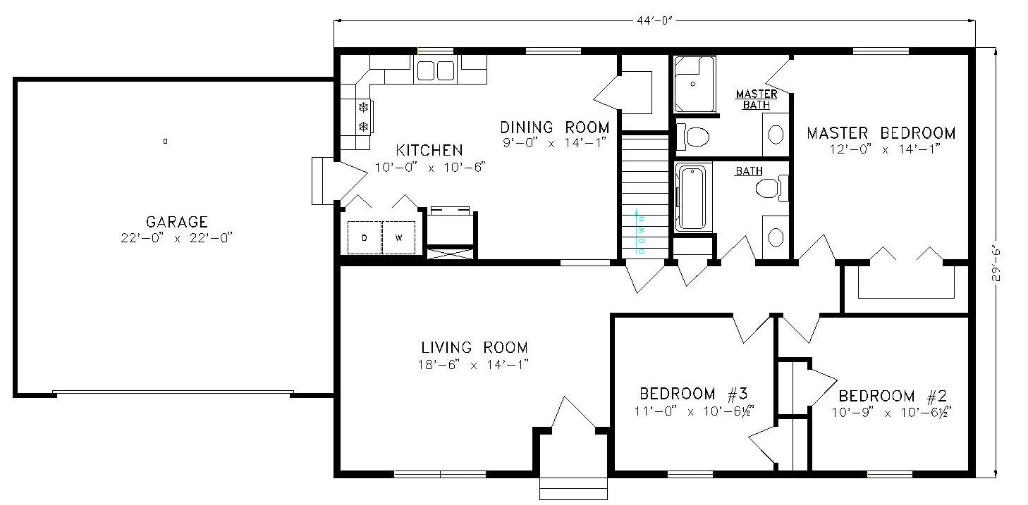 basic home floor plans the brookside a no nonsense basic ranch lake city homes 15770